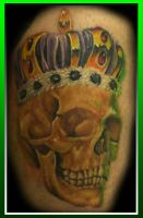 healed skull and crown by MattieMacabre