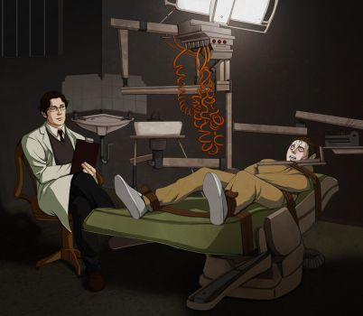 Commission for cadaverish: Crane with a patient by toluenesister