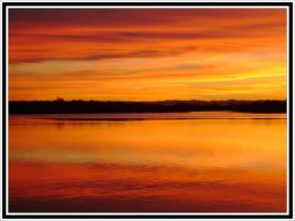 Orange sky, Orange river by engridearty
