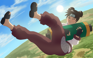 Tenten - Down From the Heavens by Xeolan