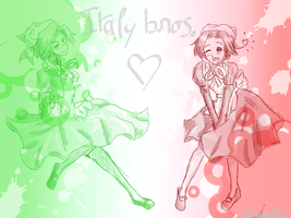 dress Italy bros by asuka-the-hedgehog