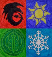 The Big Four Crests by Frie-Ice
