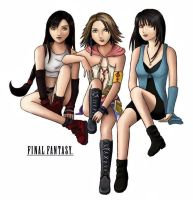 Girls of Final Fantasy by jessicasalehi