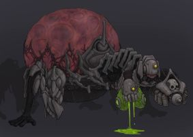 3 Headed Robot Spider Guy by CorianderCollecter