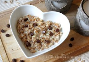 Chocolate Chip and Honey Porridge by claremanson