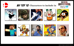 My TOP 10 Smash bros wii u desire list (Parody) by lunitaproductions