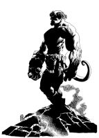 Hellboy09 by kevinesque