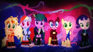 Wallpaper Heroes of Equestria by Barrfind