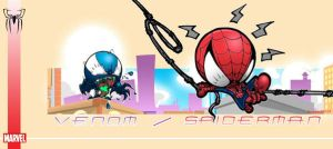 Spidey and Venom by the-tracer