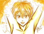 Nagisa sketch - Free! Iwatobi Swim Club by Nekoi-Echizen