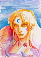 Sesshomaru Portrait by Lillooler