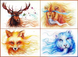 Spirits of the Seasons by sanguisGelidus