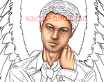 WIP Castiel's cute face by White-Magician