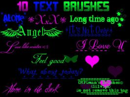 Text Brushes. by OMFGman