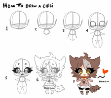 How to draw a mini chibi by Ayuki-Shura-Nyan