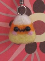 Candy Corn Keychain :3 by xxNostalgic