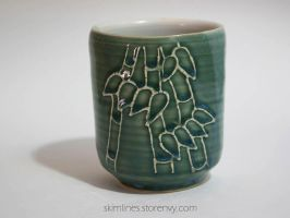 Bamboo 3 tea cup by skimlines