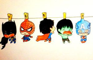 Heroes in clothesline by Madhurupa