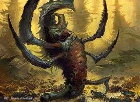 Phyrexian Swarmlord by velinov