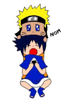 Colored Sasunaru Chibi noms by RavenTheraphosa