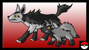Poochyena Family by ZappaZee