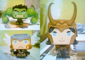 We have a Hulk! ... Loki and Thor by M0nzteer