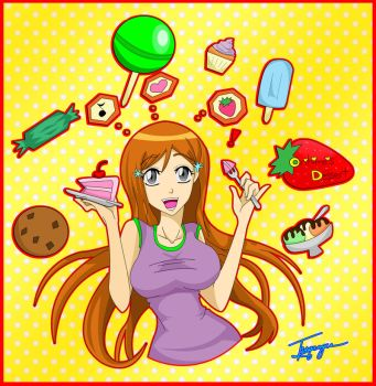 Orihime's Dessert by Turqcoyce