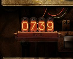 Steampunk Nixie Clock for xwidget by jimking