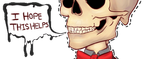 Customer Care Skeleton (Gif) by AngryFather