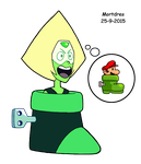 Peridot's foot by Mortdres