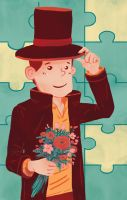 Professor Layton and the Secret Admirer by amiima