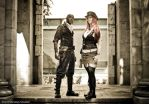 The Captain and First Lieutenant in the Archway 2 by godsmistake