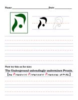 Precursor Worksheet - U by DrinkTeaOrDie