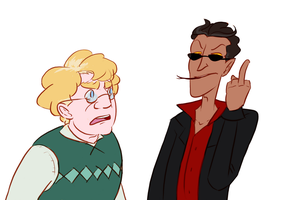 GO: aziraphale and crowley by CalmingSoul