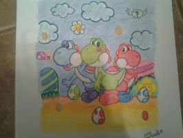 Yoshis Island Drawing by Misskatt66