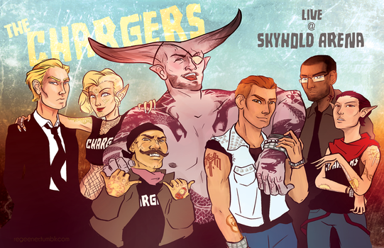 The Chargers- Punk Band AU by regeener