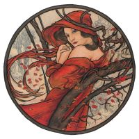 Months - November by Mucha by AnnaSulikowska