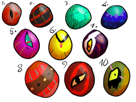 Egg adopt sheet #3 (open)-15points each- by XTwilight-SerenityX