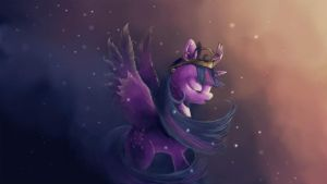 My destiny(Princess Twilight Sparkle) by FoxTailPegasus