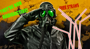 NON RADIOACTIVE STRAWS PILOT BANNER by ananomus111