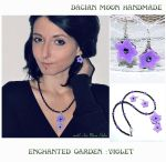 Enchanted Garden : Violet jewelry set by NessaSilverwolf