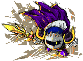 Meta Knight is ready to strike! by Assassin--Knight