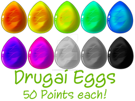 Drugai Eggs for sale! by AmzyTheChangeling