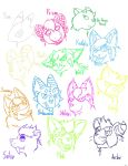 The Many Colorful Sketches of Peep's Characters by TheTwistedPuppy