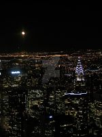 Moon over NYC by flowersteph
