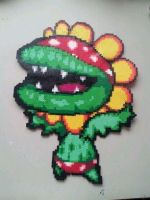 Petey The Pirannah Perler Bead by CrimsonDeathAngel13