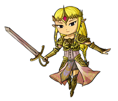 Hyrule Warriors: Princess Zelda -WW Style- by Icy-Snowflakes
