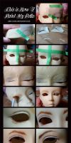 Doll Painting Process by Fylgjur