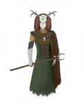 The Horned Shaman (Coloured) by MyEpicRilla