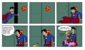 Surprise for Superman by DarkJ3